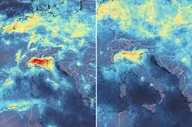 """Italia """"chiusa"""" per coronavirus e l'inquinamento diminuisce: le ..."""