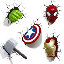 Great Role Of Marvel Avengers 3d Wall Lights Warisan Lighting