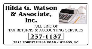 Hilda G. Watson & Associates, Inc. - Accounting & Tax Consultants - Wilson,  NC