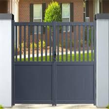 China Used Removable Aluminium Garden Fence Gate Fencing For Sale China Aluminum Slat Fence Slat Gate