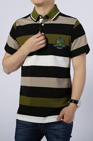 summer casual striped cotton army green