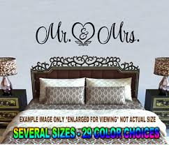 Mr And Mrs Wall Decal Sticker Quote Romantic Heart Live Love Art Wedding Laugh Ebay