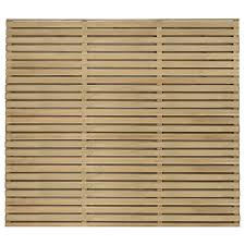 Forest Garden Double Slatted Fence Panel 6 X 5 Ft Multi Packs Wickes Co Uk
