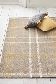next ochre check rug yellow yellow