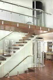 glass elevators in modern residential