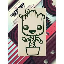 Baby Groot Car Decal Baby Groot Decal Baby Groot Sticker Etsy