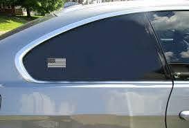 American Flag Black White Sticker U S Custom Stickers
