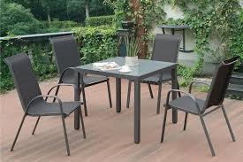 vinyl fabric glass top patio table