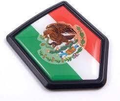 Amazon Com Mexico Mexican Flag Black Shield Car Bike Decal Crest Emblem 3d Sticker Automotive