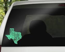 Texas Zentangle Car Decal Texas Car Decal Texas Sticker Etsy