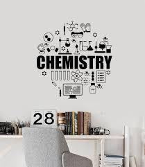 Vinyl Wall Decal School Chemistry Exact Sciences Molecules Laboratory Wallstickers4you