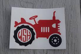 Monogram Tractor Vinyl Decal Farmer Decal Rustic Farm Etsy Vinyl Decals Monogram Stickers Vinyl