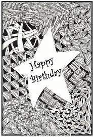Zentangle Inspired Birthday Cards Zentangle Patronen Kleurboek