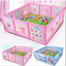 Cartoon Children Kids Play Pen Fence Playpen Baby Safety Pool Baby Game Toddler Shopee Philippines