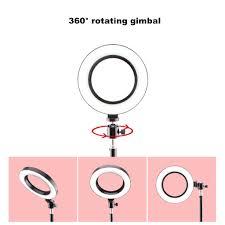 Bộ đèn LED vòng tròn trợ sáng Selfie / livestream có 3 màu sáng ...