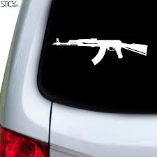 Ak 47 Decal For Car Window Stickany