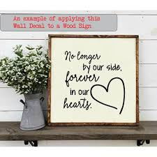 Memorial Wall Decor Forever In Our Hearts Quote Family Stickers Decals 11x11 5 Inch Black Walmart Com Walmart Com