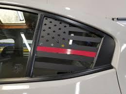 Thin Red Line American Flag Quarter Window Decal 2015 2020 Wrx Sti Jdmfv Fanatic Wraps