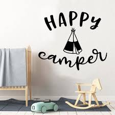 New Hapy Camper Wall Mural Removable Wall Decal Nursery Room Decor Wall Decoration Murals Wall Stickers Aliexpress
