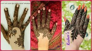 gorgeous finger mehndi design