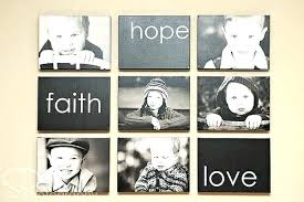 how to display family photos on wall