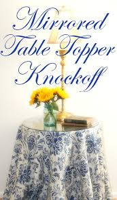 mirrored table topper