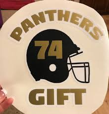 Panther Football Window Decal Head 2 Toe Design
