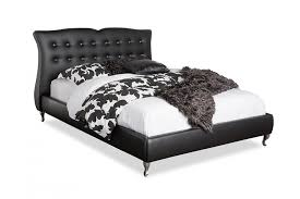 contemporary black faux leather