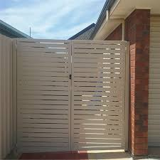 China Aluminum Garden Privacy Slat Fence Double Gate China Doors And Aluminum Gate Price