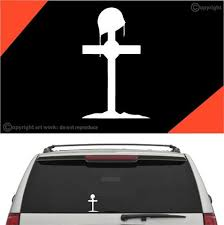 Fallen Soldier Cross Car Sticker Decal Topchoicedecals