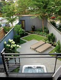 small garden with sun area and even a
