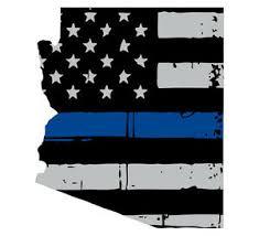 Thin Blue Line Decal State Of Arizona Window Vinyl Sticker Various Size Ebay