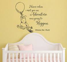 Classic Winnie The Pooh Wall Decals Quotes Nursery Kids Room Decor Piglet Mn104 Ebay