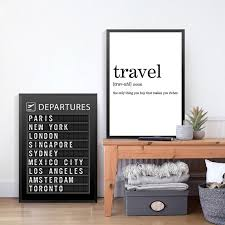 Airline Departures Board Wall Art Poster Airport Travel Destinations B Nordicwallart Com