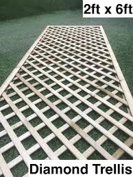 G G 2ft X 6ft Diamond Trellis Natural Green