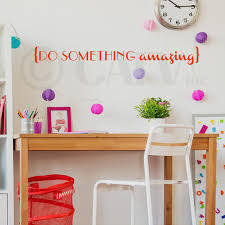 Do Something Amazing Vinyl Lettering Wall Decal Sticker 4 H X 36 5 L Red Walmart Com