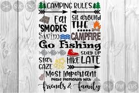 Camping Rules Outdoors Summer Cut File Svg 82152 Cut Files Design Bundles
