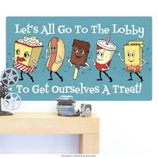 Lets Go To The Lobby Snacks Wall Decal At Retro Planet