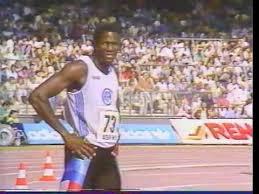 100M Ben Johnson + Calvin Smith - Berlin 1987 - YouTube