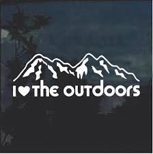 I Love The Outdoors Window Decal Sticker Custom Sticker Shop