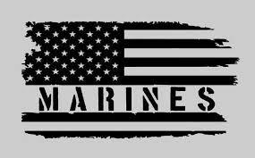 Disabled Us Marine Corps Veteran Vinyl Car Truck Window Decal Sticker Us Seller