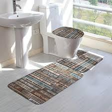 houyan bathroom rugs sets 3 pieces