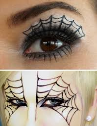 how to do spider web eye makeup