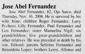 Obituary for Jose Abel Fernandez (Aged 82) - Newspapers.com