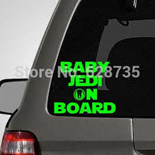 Baby On Board Vinyl Car Decal Stickers Star Wars Jedi Car Stickers S2045 Car Stickers Aliexpress