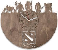 Amazon Com Nadezhdashop Handmade Clock Wall Dota 2 Birthday Gift Dota 2 Living Room Decorations Dota 2 Wall Decals Game Dota 2 Wooden Wall Clock For Gamer Dota 2 Wall Clock Large Modern