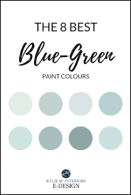 blue and green blend paint colours
