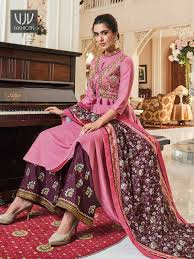 Image result for BROWN MOTIF BROCADE GOWN