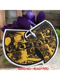 Wu Tang Rock Band Hipster Waterproof Die Cut Decal Vinyl Sticker Skullangel Unique Handmade Clothing Embroidered Patches Waterproof Stickers For Diy Projects