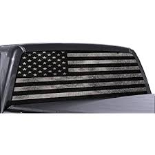 Amazon Com Fgd Brand Truck Rear Window Wrap Thin Blue Line American Flag Perforated Vinyl Decal Automotive